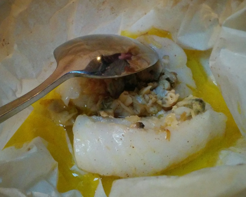 Steamed Cod with Butter Sauce