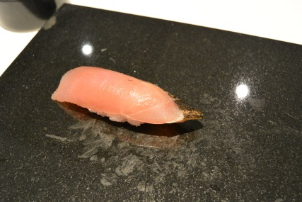 Bonito from Nagasaki, Japan. [Sharp smokey flavour, slightly bitter taste from fish. Leaves and aftertaste of smoking cigarettes]